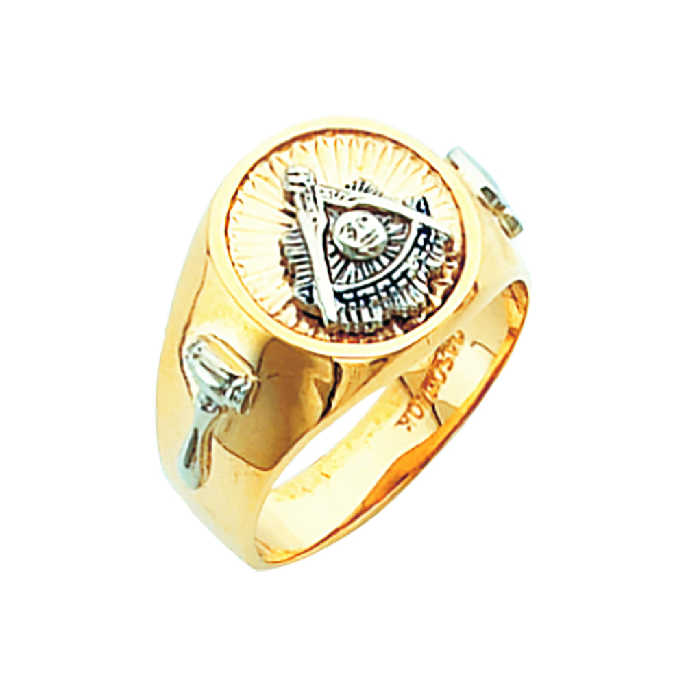 Masonic Past Master Ring - Solid Back in 10K Gold (22)