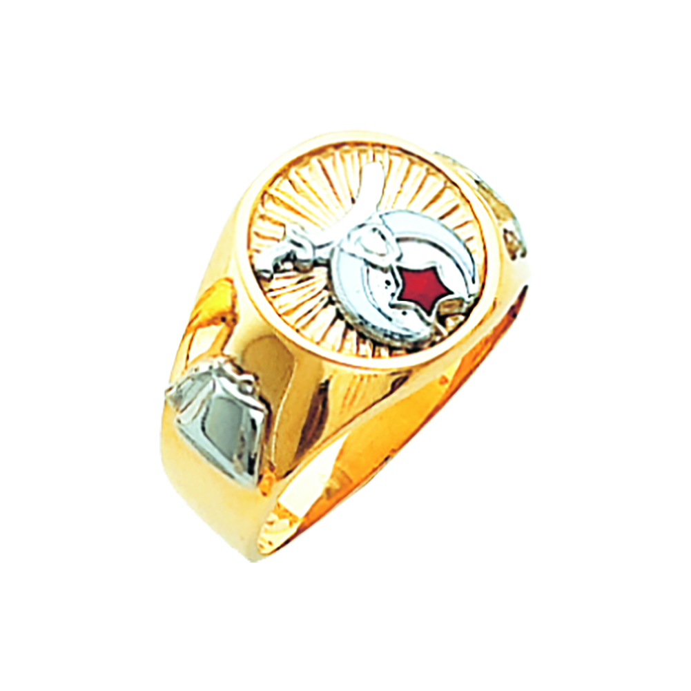 Shriner Ring - Solid Back in 10K Gold (10)