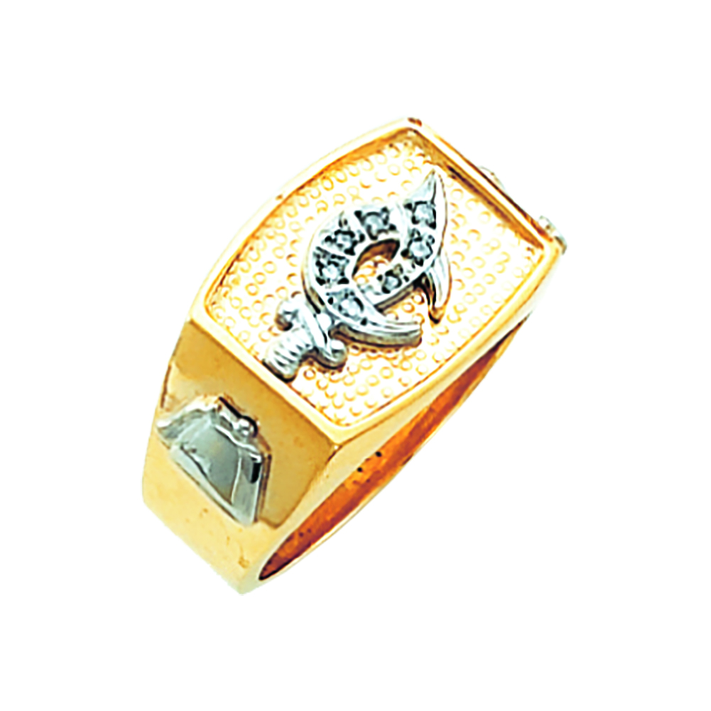 Shriner Ring - Solid Back in 10K Gold (13)