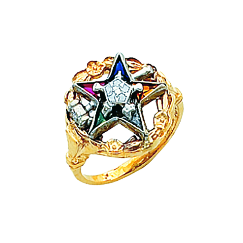 Eastern Star Past Matron Ring - 10K Gold (3)