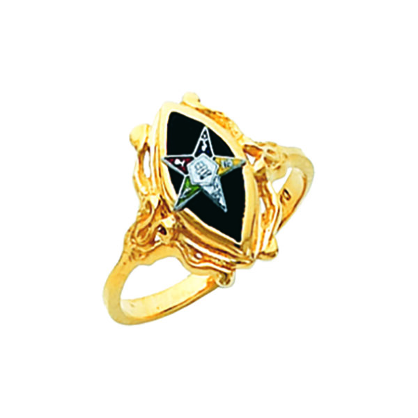 Eastern Star Ring Gold New For Sale