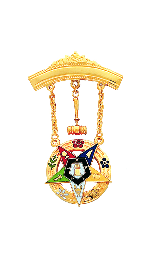 Order of the Eastern Star Past Matron Jewel New Gold
