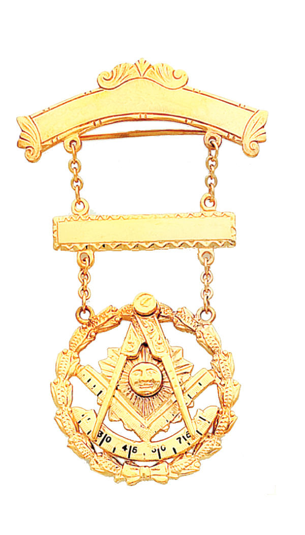 Masonic Past Master Jewel Gold New For Sale
