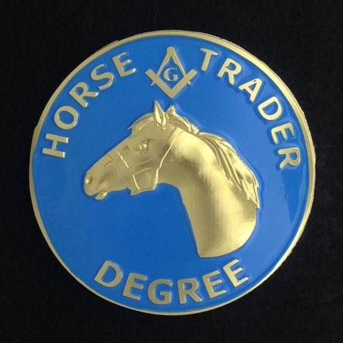 Horse Trader Degree Auto Emblem New