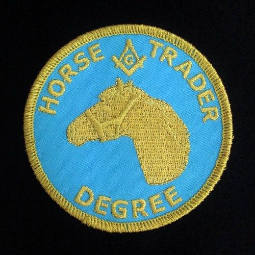 Horse Trader Degree Embroidered Patch New