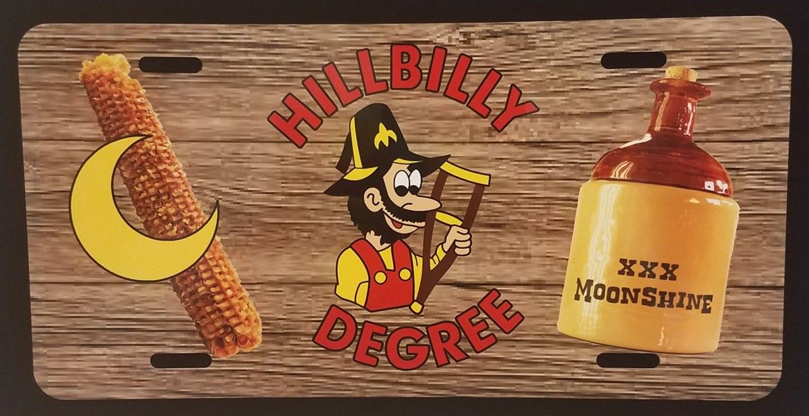 Hillbilly Degree Full Color Auto Plate