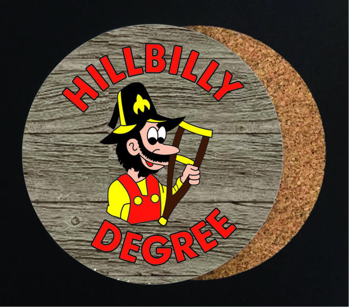 Hillbilly Degree Full Color Drink Coaster - Round