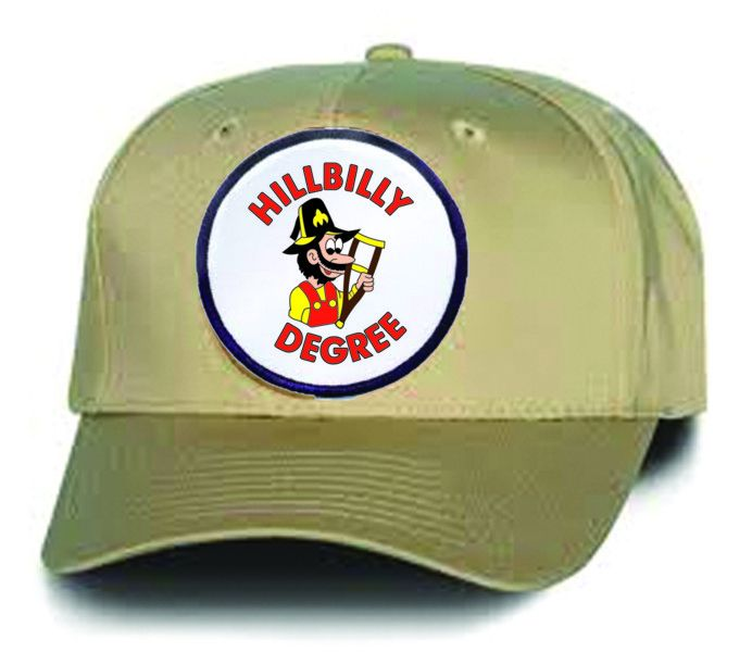 Hillbilly Degree Cap in Khaki with Logo Patch