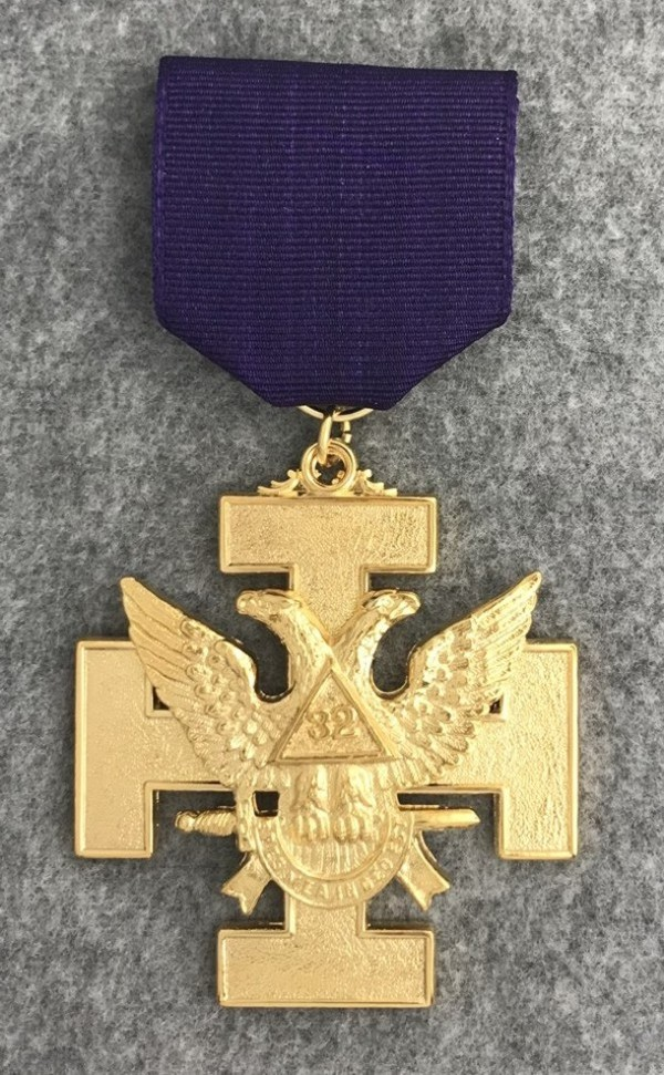 32nd Degree Jewel - Wings Up (Purple Ribbon)