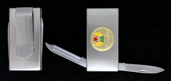 Shrine Shriner Money Clip Pocket Knife New