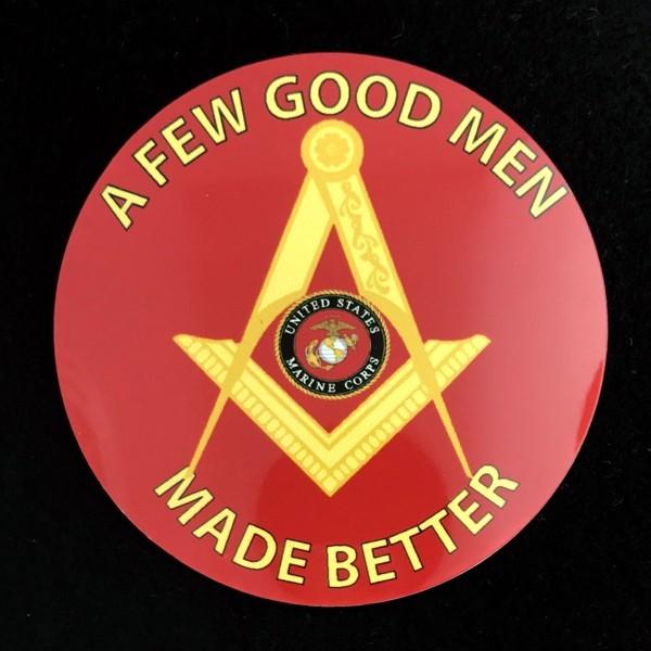 Masonic US Marine Corps Auto Emblem New