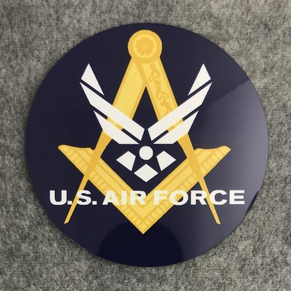 Masonic US Air Force Auto Emblem New