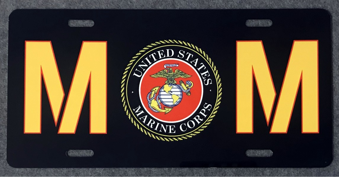 U.S. Marine Corps Mom Full Color Auto Plate