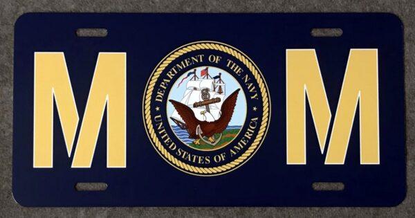 US Navy Mom Auto Plate New