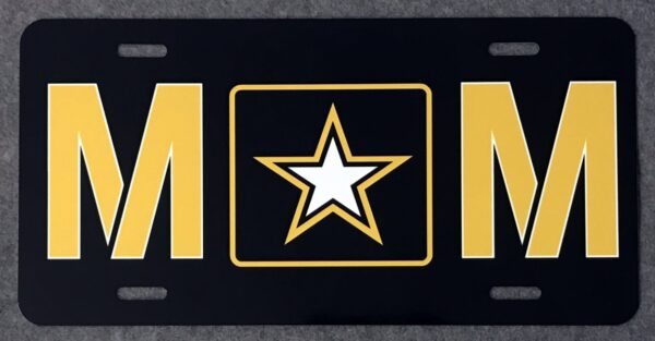 US Army Mom Auto Plate New