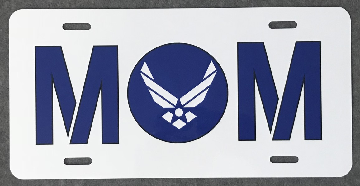 U.S. Air Force Mom Full Color Auto Plate
