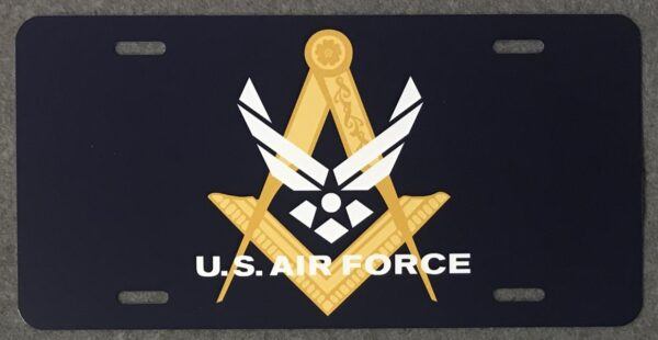 Masonic US Air Force Auto Plate New