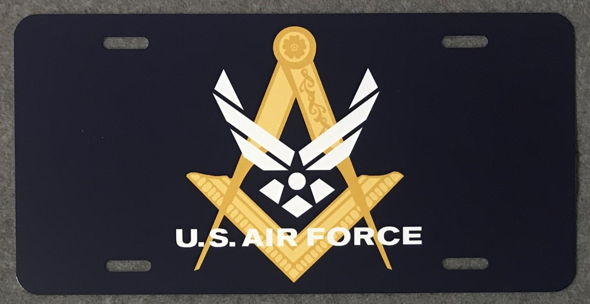 Masonic U.S. Air Force Auto Plate