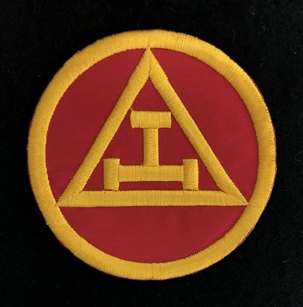 "Royal Arch Chapter Embroidered Patch (3"") Red & Yellow"