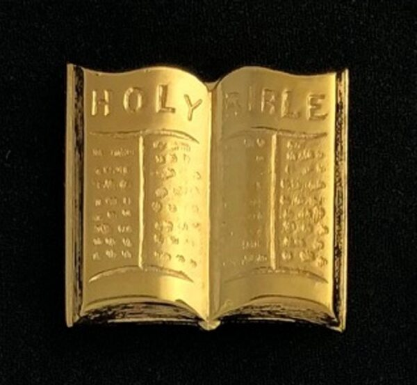 Chaplain Holy Bible Lapel Pin Gold New