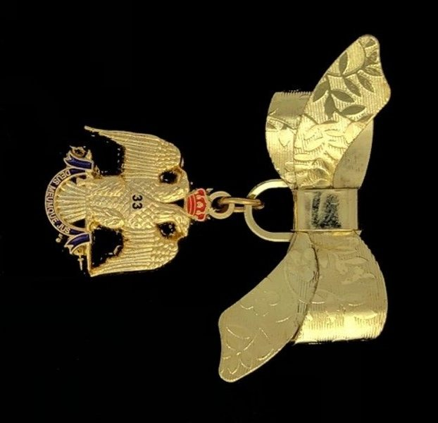 33rd Degree Eagle Lady's Bow Pin