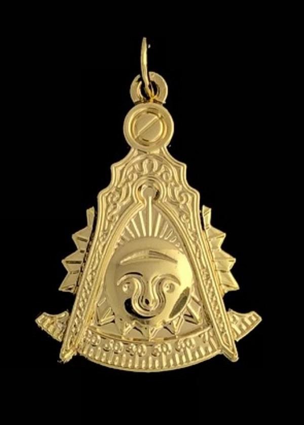 Masonic Past Master Emblem Jewel Pendant Gold New