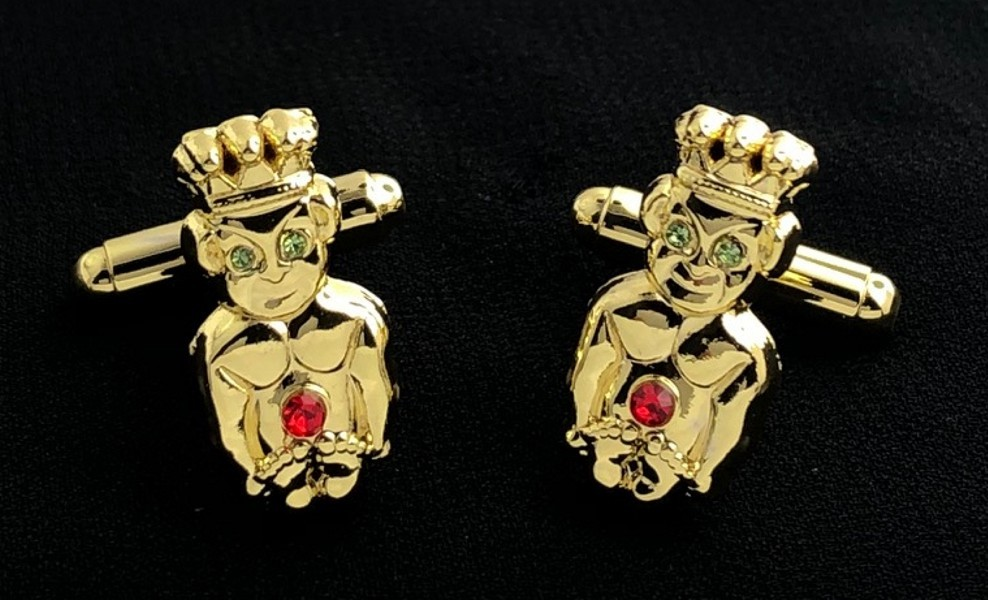 Royal Order of Jesters Cuff Link Set with Stones