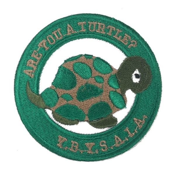 "Are You A Turtle Embroidered Patch (3"")"