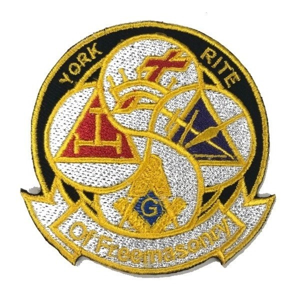 "York Rite Bodies Embroidered Patch (3"") Style 2"