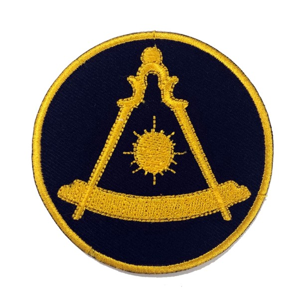"Masonic Past Master Embroidered Patch - Black (3"")"