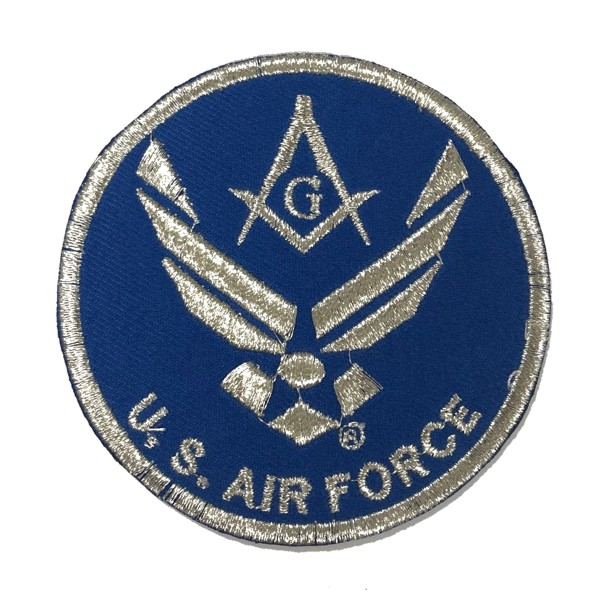 "Masonic U.S. Air Force Embroidered Patch (3"")"