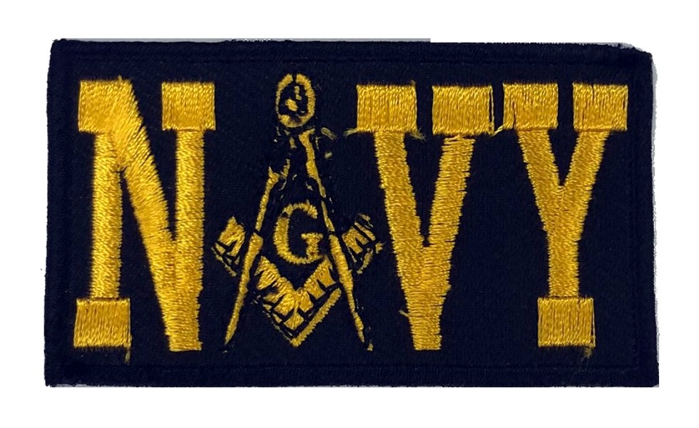 "Masonic U.S. Navy Embroidered Patch (3"")"
