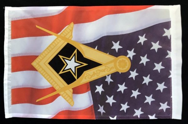 Masonic US Army Garden Flag