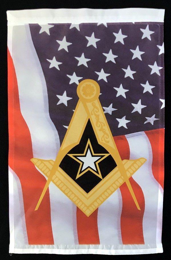 Masonic US Army Garden Flag