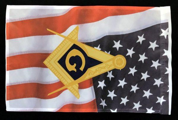 Masonic Emblem US Flag Garden Flag New