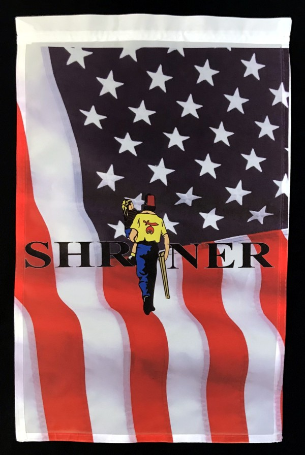 Shrine Shriner US Flag Garden Flag New