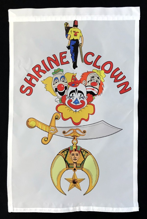 Shrine Clown Flag Garden Flag