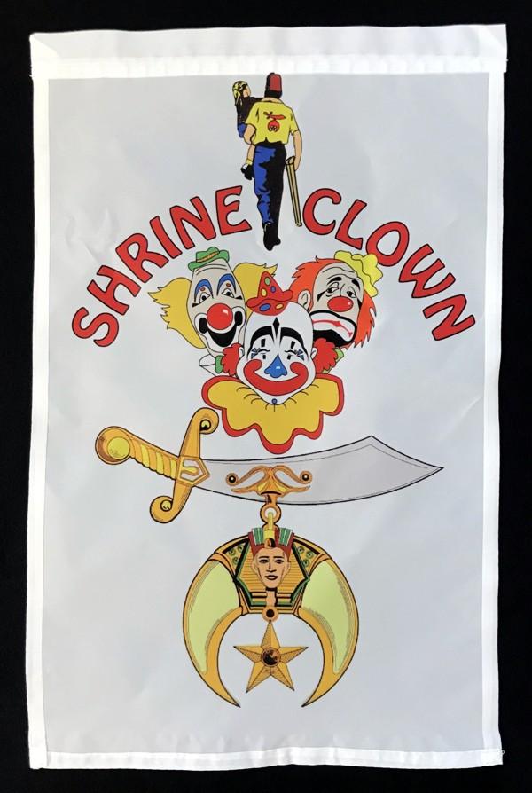 Shrine Shriner Clown Garden Flag New