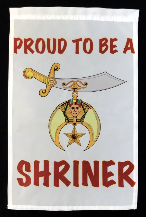 Proud To Be A Shriner Garden Flag New