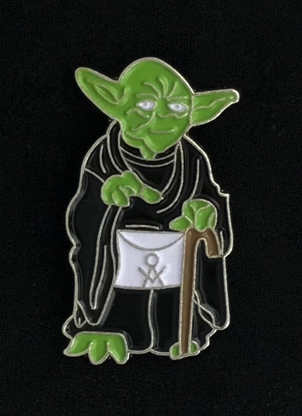 Masonic Master Yoda Lapel Pin