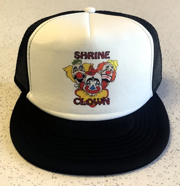 Shrine Clown Trucker Cap in Black & White