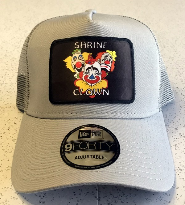 Shrine Shriner Clown Cap Hat Gray New
