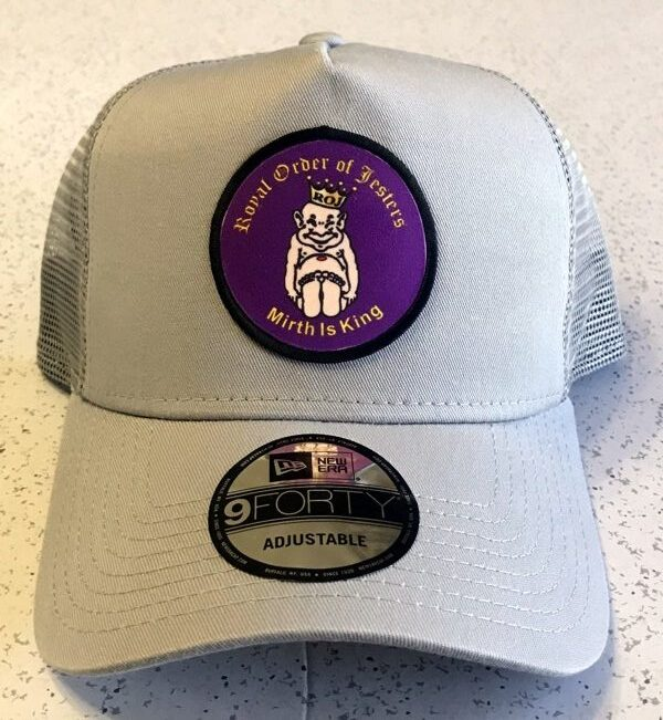 Royal Order of Jesters Cap in Gray with Round Patch