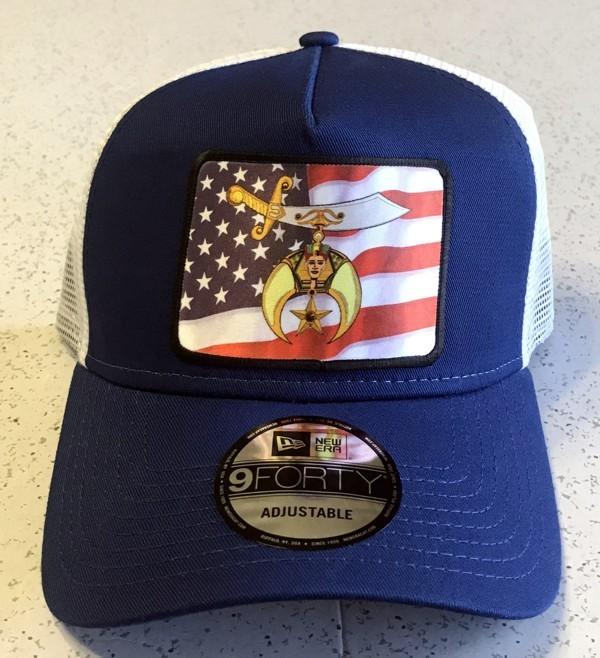 Shrine Shriner US Flag Cap Hat Blue New