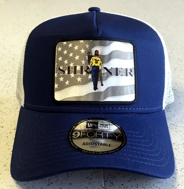 Shriner U.S. Flag Cap in Blue & White - Style 2