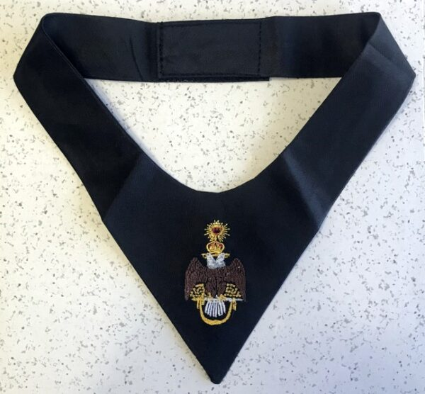 Scottish Rite 33rd Degree Cravat Tie Black New
