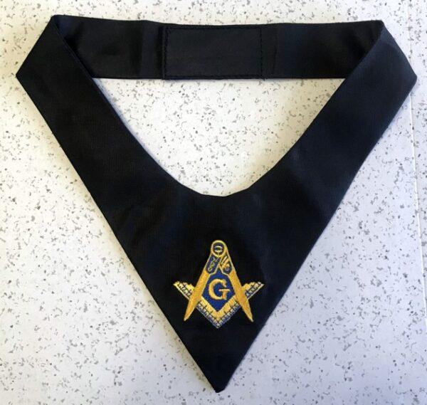 Masonic Emblem Cravat Tie Black New