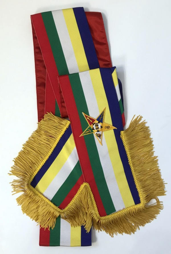Order of the Eastern Star Member Sash with Red Lining