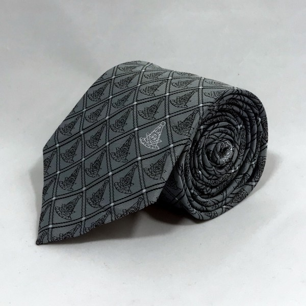 Past Master WITH Square Woven Necktie - Gray (Style 2)
