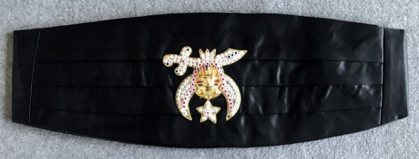 Shrine Shriner Cummerbund Black New